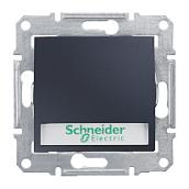 Выключатель кнопочный Schneider Electric Sedna SDN1600370 с надписью и подсветкой графит