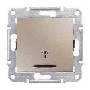 Выключатель кнопочный Schneider Electric Sedna SDN1600468 Звонок с подсветкой титан