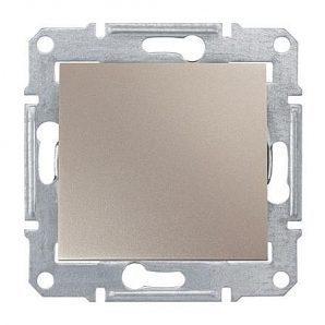 Выключатель одноклавишный Schneider Electric Sedna SDN100168 71х71х42 мм титан