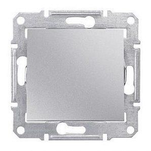 Выключатель одноклавишный Schneider Electric Sedna SDN0200260 двухполюсный 16 А 71х71х42 мм алюминий