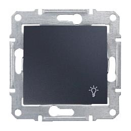 Выключатель одноклавишный Schneider Electric Sedna SDN0900170 Свет 71х71х42 мм графит