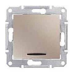 Выключатель одноклавишный Schneider Electric Sedna SDN1600168 с подсветкой 71х71х42 мм титан