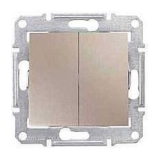 Переключатель двухклавишный Schneider Electric Sedna SDN0600168 71х71х42 мм титан