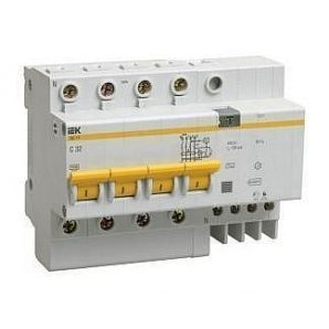 Дифференциальный автомат IEK АД14 4Р 32 А 100 мA