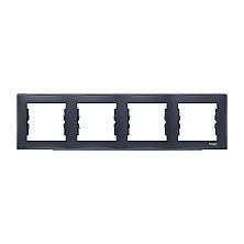 Рамка четырехместная Schneider Electric Sedna SDN5800770 горизонтальная 80х299х7 мм графит