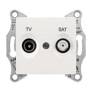 Розетка TV-SAT Schneider Electric Sedna SDN3401623 конечная 70х64х40 мм слоновая кость