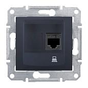 Розетка компьютерная Schneider Electric Sedna SDN4300170 RJ45 кат.5е UTP графит