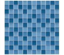 Мозаїка VIVACER мікс з прозорим склом CMmix02Rv2 2,5х2,5 см, 30х30 см
