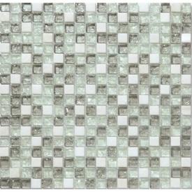 Мозаика мрамор стекло VIVACER 1,5х1,5 DAF3 30х30 cм
