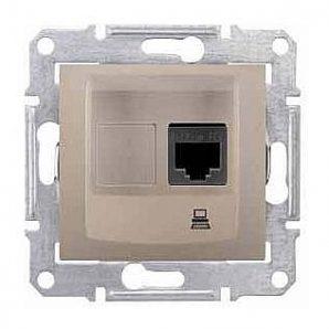 Розетка компьютерная Schneider Electric Sedna SDN4700168 RJ45 кат.6е UTP титан