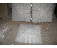 Крышка на столб Черепица 450х450х130 мм серая