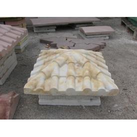 Крышка на столб Черепица 390х390х115 мм янтарь