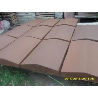 Крышка для парапета 1000х400х65 мм коричневая