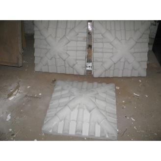 Кришка на стовп Черепиця 450х450х130 мм сіра