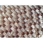 Мозаика мрамор стекло VIVACER PC004 1,5х1,5 cм 30х30 cм