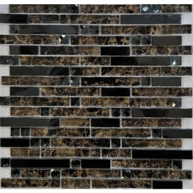 Мозаика мрамор стекло VIVACER Mix L1150 30х30 cм
