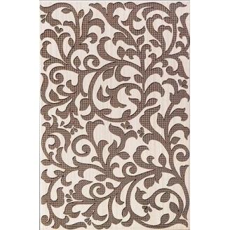 Декор Inter Cerama VENGE 23x35 см коричневый