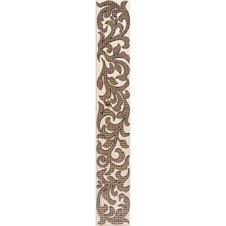 Бордюр Inter Cerama VENGE 5,4x35 см коричневый