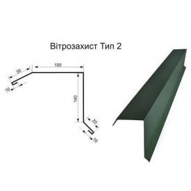 Ветровая планка 2 м 0,45 мм