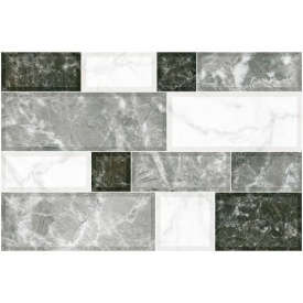 Керамічна плитка Inter Cerama GRANI для стін 23x35 см сірий світлий