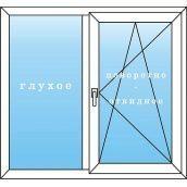 Металлопластиковое окно 1100х1350 мм