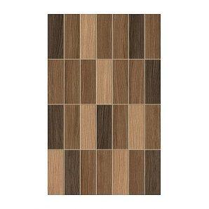 Плитка керамическая Golden Tile Karelia Mosaic для стен 250х400 мм коричневый (И57161)
