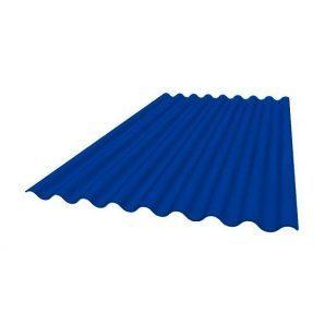 Покрівельний лист Керамопласт Класичний 1200х250х5 мм синій