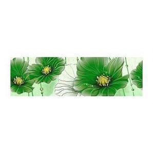 Фриз Golden Tile Маргарита 200х60 мм зеленый (Б84371)