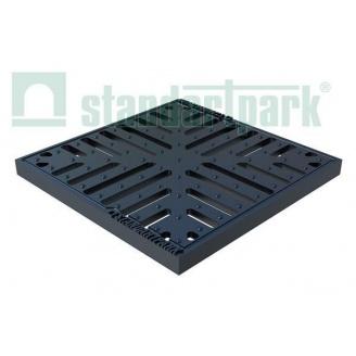Решетка чугунная Basic РВ-28.28СЧ для дождеприемника 280х280х23 мм (3334)