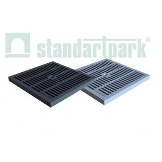 Решетка пластиковая для дождеприемника PolyMax Basiс РВ-28.28-ПП черная (3380-Ч)