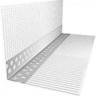 Угол перфорированный со стеклосеткой 7х7 см 3 м