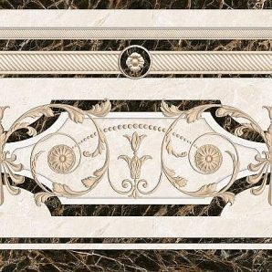 Декор Inter Cerama FENIX 43x43 см бежевый (ДН 93 021-2)