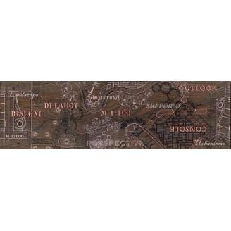 Бордюр Inter Cerama PANTAL 15x50 червоно-коричневий (БН 85 022)