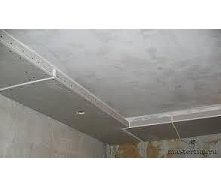 Устройство подвесного потолка из ГКЛ с заделкой швов