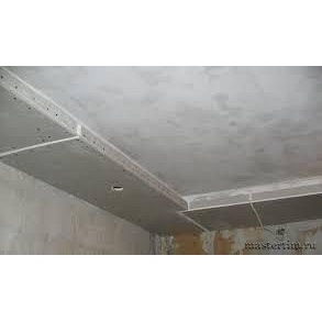 Влаштування підвісної стелі з ГКЛ з закладенням швів