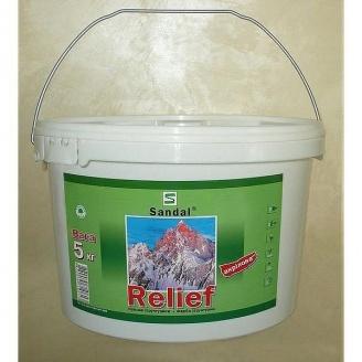 Краска структурная акриловая SANDAL Reliefаkril 5 кг