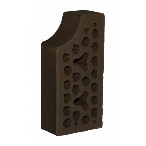 Лицевой фасонный кирпич СБК ВФ-10 1NF 250х120х65 мм какао