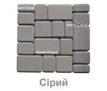 Тротуарная плитка вибропрессованная Старый Город 6 см Серый