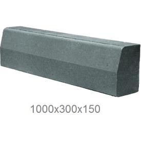 Дорожный бордюр вибропрессованный 1000х300х150 мм