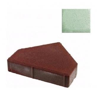 Тротуарная плитка ЮНИГРАН Пирамида 280х240х60 мм малахит на белом цементе