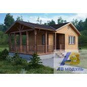 Будівництво дерев'яного котеджу з просторим ґанком