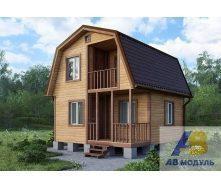 Строительство двухэтажный дачного дома с крыльцом под ключ