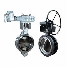 Затвор дисковый ABO valve тип 3Е-35L4В с редуктором Ду400 Ру25