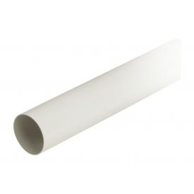 Труба водостічна з муфтою Nicoll 33 100 мм білий