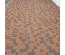 Тротуарная плитка Старый город 40 мм персиковая