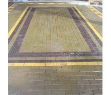 Тротуарная плитка  Кирпич Стандартный 200х100х40 мм горчичная