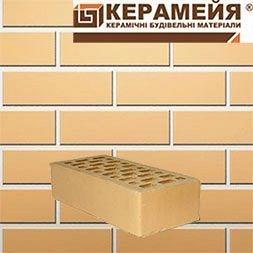Кирпич клинкерный Керамейя Классика Янтарь 250x120x65 мм желтый