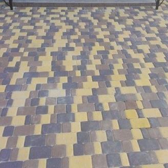 Тротуарная плитка  Старый город 40 мм горчичная
