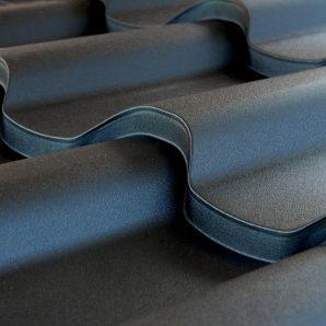 Металлочерепица Тайл Премиум полиэстер 1140x350x38 мм RAL 9005