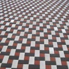 Тротуарная плитка  Кирпич Стандартный 200х100х80 мм белая